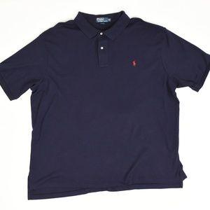 Polo Ralph Lauren Big & Tall 3XB Blue   Polo Cotto